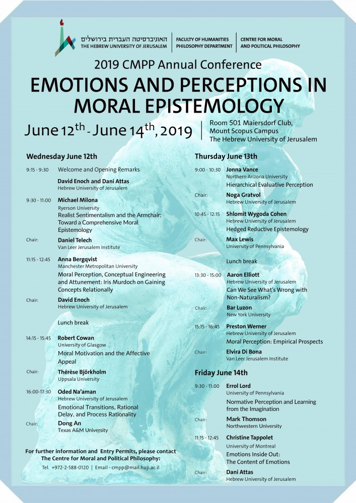 Emotions and Perception in Moral Epistemology