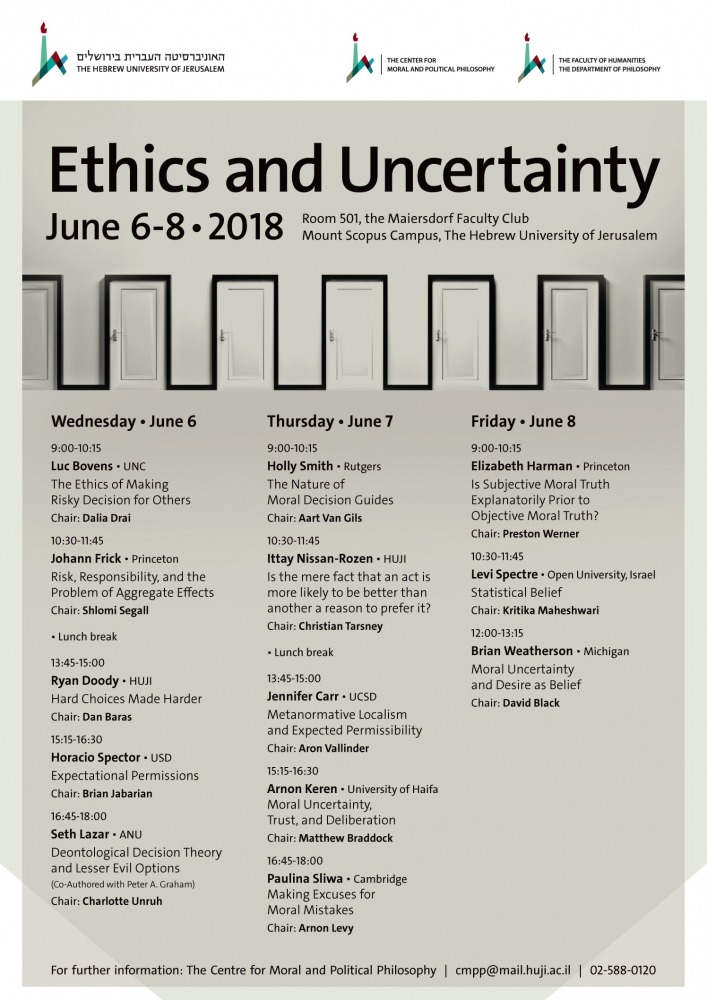 Ethics and Uncertainty